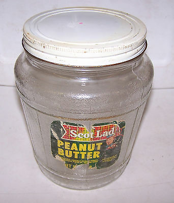 1963 Ball Barrel Jar SCOT LAD Peanut Butter