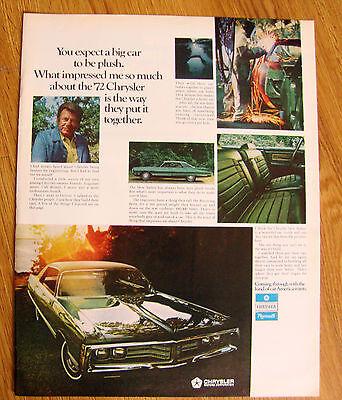 1972 Chrysler New Yorker Ad Arthur Godfrey