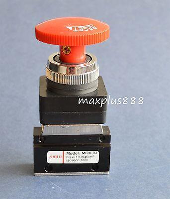 3pcs Mov-03 18 Thread Push-button Switch Pneumatic Reversing Valve