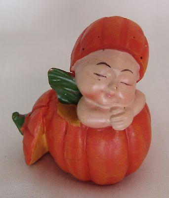 Baby Fairy in Pumpkin Dollhouse Miniature - Baby In Pumpkin