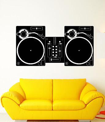 Club Mix Dj Mixer - Vinyl Wall Decal DJ Mixer Mixing Console Disco Music Night Club Stickers 1864ig