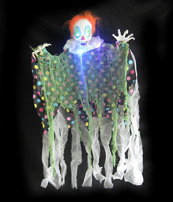 Evil Clown Lighted Scary Halloween Party Decoration Prop 34
