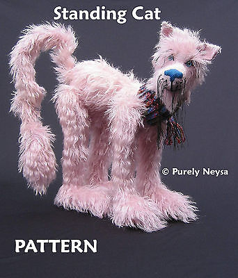 Standing Cat PATTERN with Double Jointed Head by Neysa A. Phillippi Purely Neysa