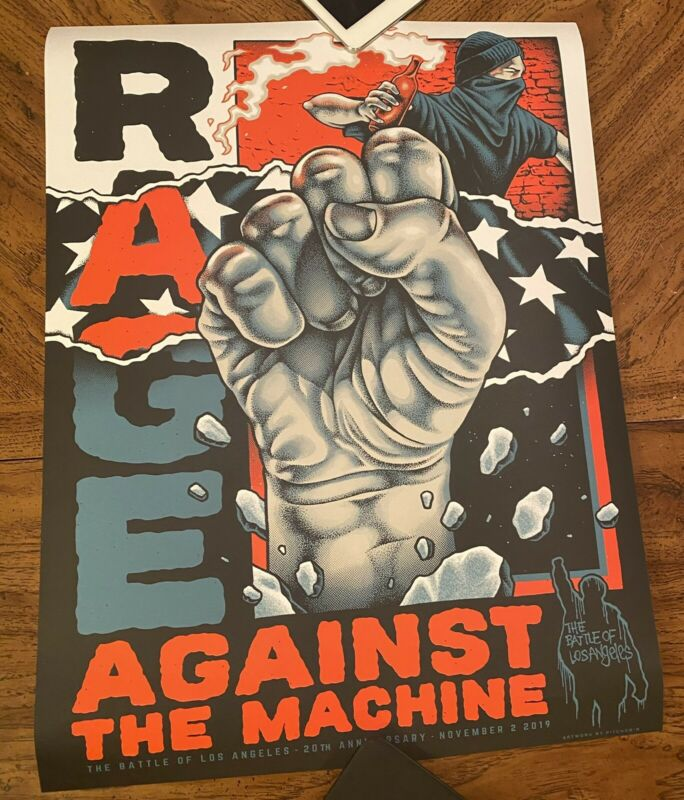 Rage Against The Machine Battle of Los Angeles Poster 20th Anniversary Pitchgrim