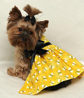 L Yellow Bumblebee Dog dress clothes pet apparel Large PC Dog®