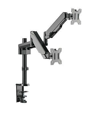 Dual Gasdruck Monitor Schwenkarm Doppel Tisch Halterung 2x8KG Office-GS424 Dual Monitor Arm