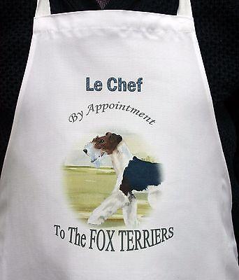 FOX TERRIER DOG NEW APRON DESIGN KITCHEN ACCESSORY SANDRA COEN ARTIST PRINT