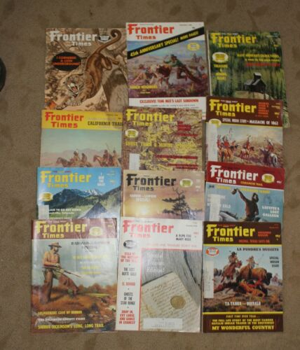 Lot of 11 Frontier Times Mag  1966-1975