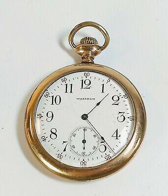 Vintage 1906 Waltham Pocket Watch, Size 12s, Grade 210 - Parts or Repair