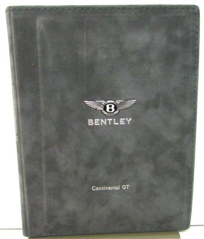2003 Bentley Continental GT Prestige Sales Brochure Auto Show Folder Art Prints