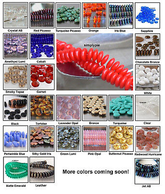 ++ 50 Rondelle 6mm Czech Glass Beads Choose Color Wafer Disc Spacers ()