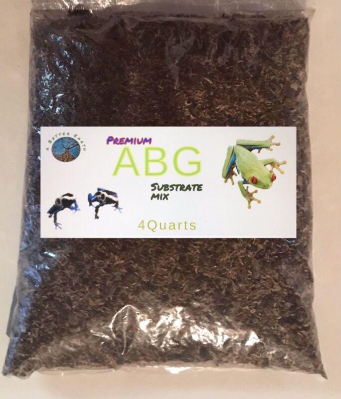 PREMIUM ABG Mix Vivarium Substrate, Dart Frogs& Amphibians (1 Gallon Bag) 4qts