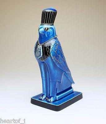 HORUS Egyptian Falcon Bird God Persian Blue Glazed Porcelain Figurine Japan NEW