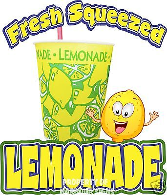 "Lemonade Decal 14"" Cold Drinks Food Truck Van Concession Restaurant Sticker"