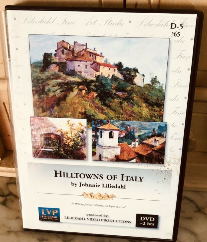 """Johnnie Liliedahl """"Hilltowns of Italy"""" Instructional Art DVD Pre-owned"""