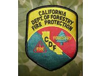 VINTAGE NOS CALIFORNIA DEPT OF FORESTRY CDF FIRE FORESTRY PATCH 1-1