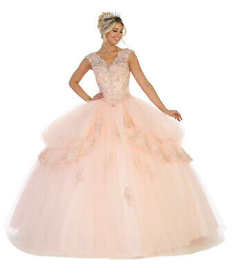 GORGEOUS DEBUTANTE CORSET MILITARY BALL GOWN CUTE SWEET 16 PROM MARDI GRAS DRESS (Mardi Gras Ball Gowns)