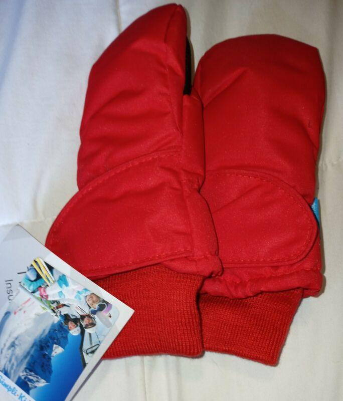 XS Winter Kids Boys Girls 3M Thinsulate Snow Mittens Waterproof Warm Ski Gloves