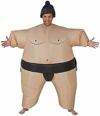 Sumo Wrestler Inflatable (Funny SUMO WRESTLER INFLATABLE BODY INSTANT COSTUME w-Airblown Fan-Unisex)