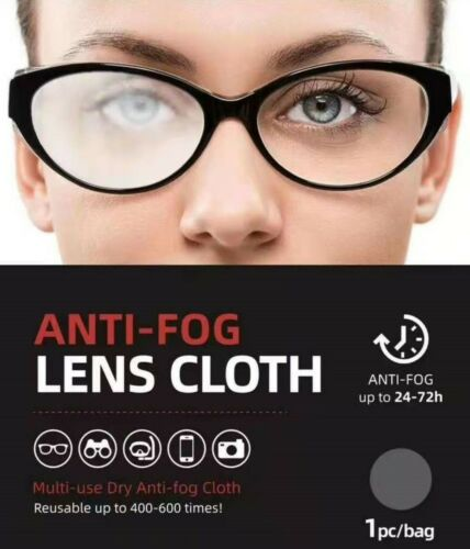 Anti-Fog Lens Cleaning Cloth Multi-Use Reusable Up To 400-600 Times!