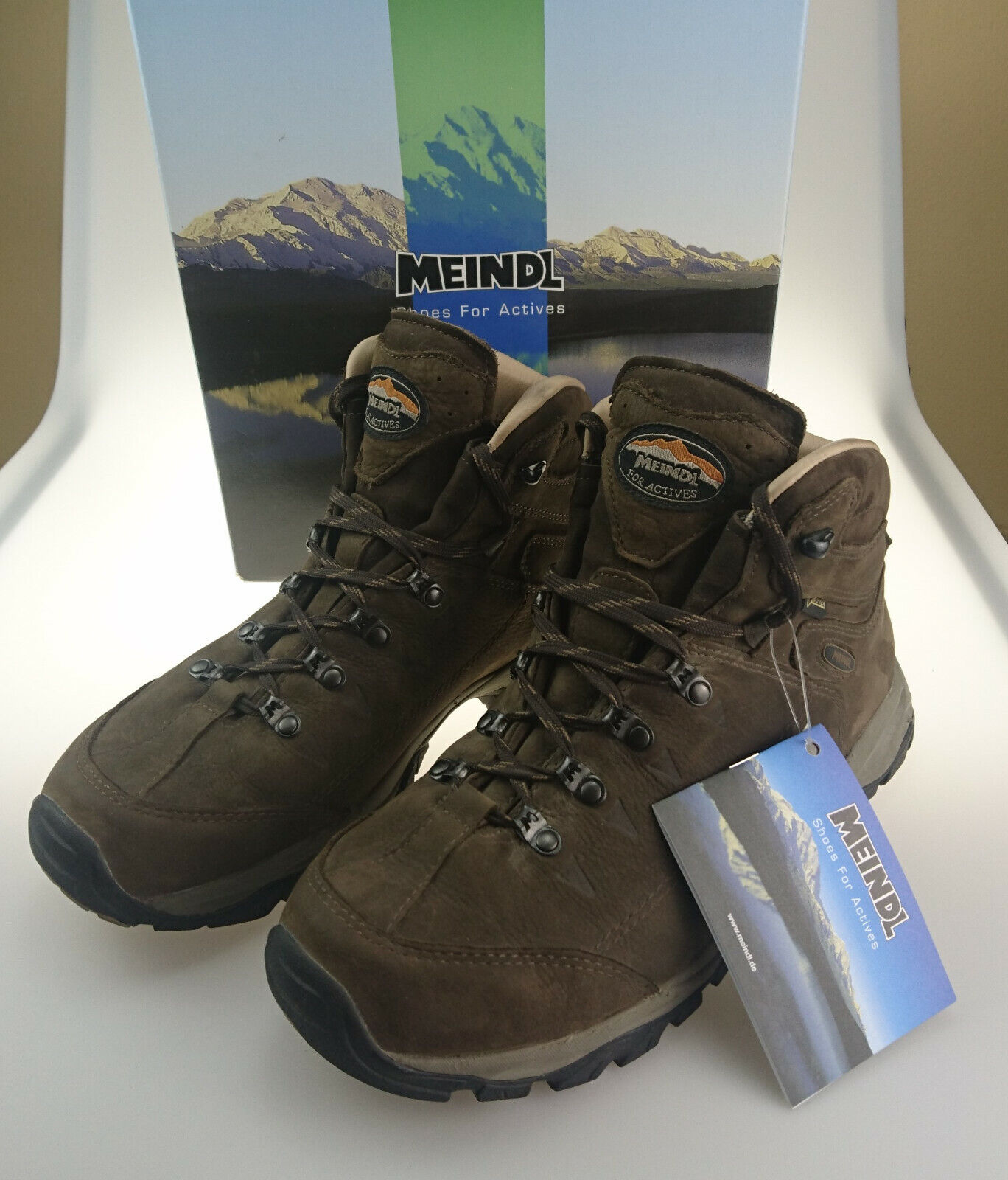 Meindl Ohio 2 GTX Trekking-/ Wanderstiefel mahagoni || Größe 43 || kaum getragen