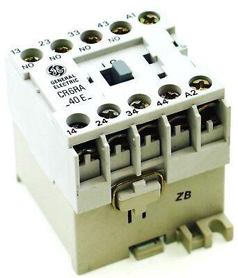 Ge Miniature Din Rail Magnetic Contactor Cr6ra40eb 220v Ac Coil Cs4-40e-220