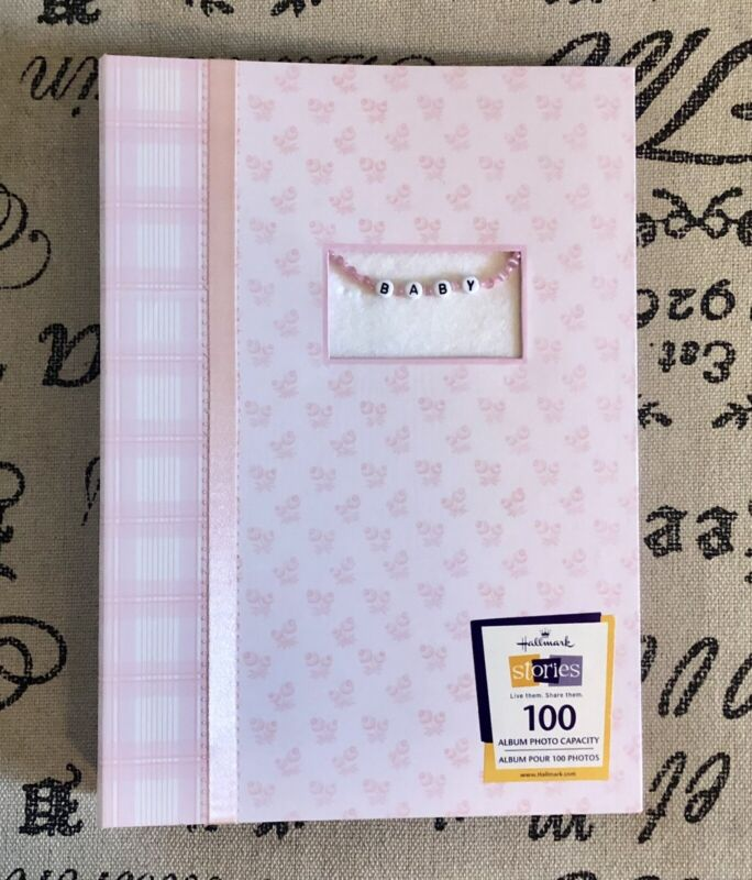 Hallmark Stories Baby Girl Photo Album Holds 100 4x6 Pictures With Room For More