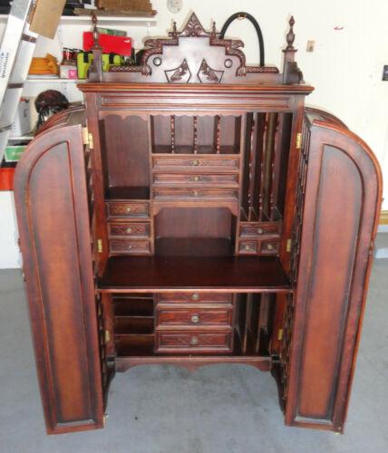 Kingston Galleries Wooton Style Heavy Antique Cabinet Secretary Desk