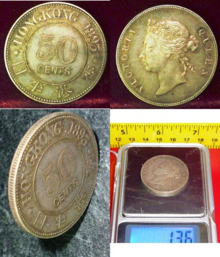 1893 Hong Kong 50 Cents (KM# 9.1 ) HIGH GRADE UNCIRCULATED- OFFERS  WELCOME