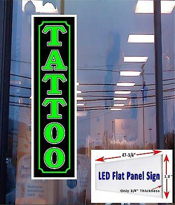 Led Sign Tattoo Window Sign 48x12 Neon Banner Alternative New Flat Panel Led