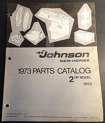 1973 JOHNSON SEA-HORSE OUTBOARD 2 HP PARTS MANUAL  P/N 386129  (410)