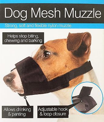 Pet Dog Adjustable Mask Bark Bite Mesh Mouth Muzzle Grooming Anti Stop Chewing M