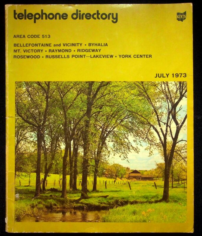 July 1973 Bellefontaine Ohio United Telephone Directory With Yellow Pages