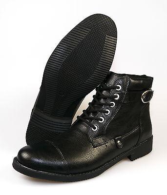 RYT D 500 Royalty Herren Schnürstiefel Boots Größe 40 - 43 schwarz NEU  ()
