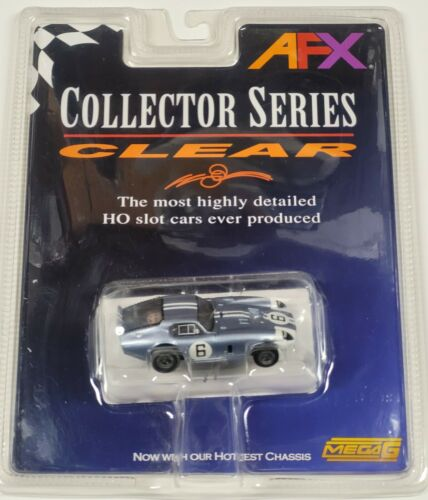 Tomy Mega G - Silver / Blue Daytona Coupe #6 - HO Scale Slot Car - New