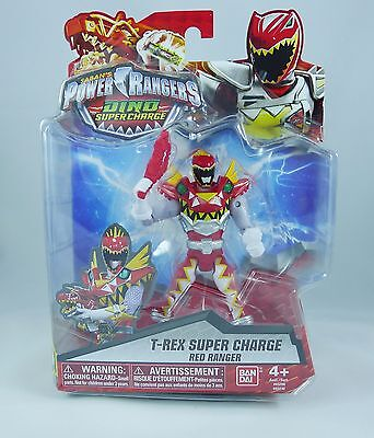 """Power Rangers Dino Super Charge - 5"""" T-Rex Super Charge Red Ranger Action Figure"""