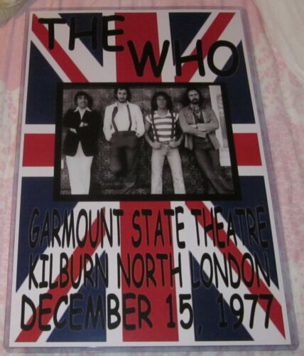 THE WHO 1977 GARMOUNT STATE THEATRE REPLICA CONCERT POSTER