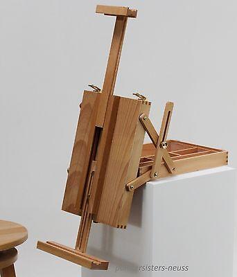 """Tischstaffelei """"MERAN"""" mit Malkoffer, aus Buchenholz FSC®, -70cm Keilrahmen"""