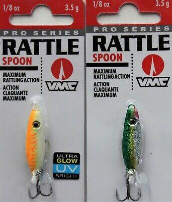 Rainbow Trout Lot of 3 VMC Minnow Jig  1//4 oz ice fishing jig spoon lure