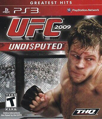 UFC Undisputed 2009 (Sony PlayStation 3, PS3, 2009, Greatest Hits) *COMPLETE* comprar usado  Enviando para Brazil