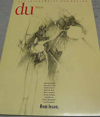 du 584 Rom lesen ua. Themen *Die Zeitschrift der Kultur*10/1989 *mit Plakat*