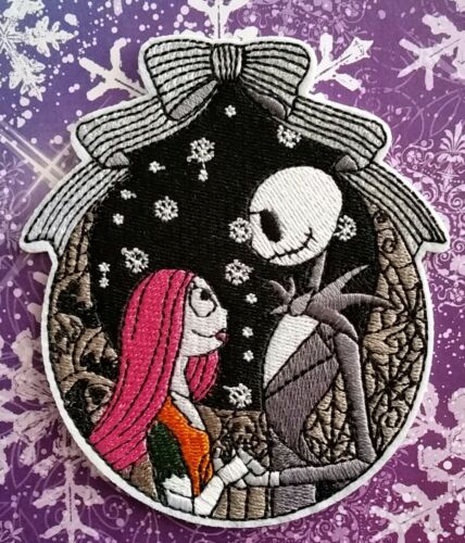Nightmare Before Christmas Jack and Sally Nighttime Embroidered PATCH