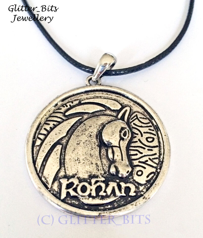 Rohan Horse Necklace Pendant HOBBIT LOTR Lord Of The Rings Round Rider Charm