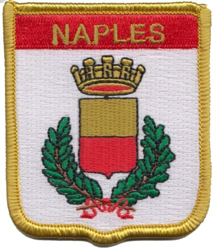 Italy Naples City Coat Of Arms Shield Embroidered Patch - LAST FEW
