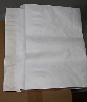 100x Tyvek Expanding Envelope 12x18x2 Expansion Envelopes Zip Stick White