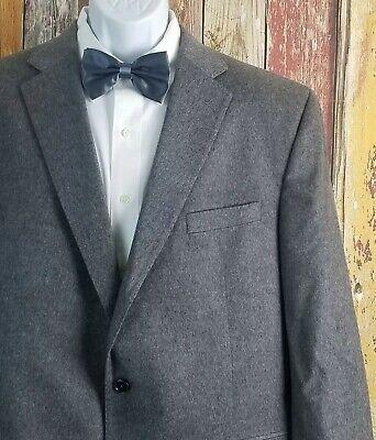 Jack Victor Men's Piacenza Cashmere Gray Sport Coat Jacket 46 Long
