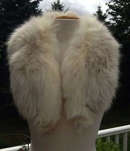 Vintage-LILLI-ANN-White-Fox-Fur-Collar-Wrap-Stole-DIY-EXCELLENT-CONDITION