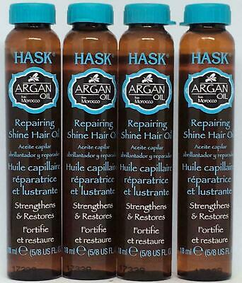 Hask Keratin Repairing Shine Hair Oil 5/8 FL. Oz. -lot of 4