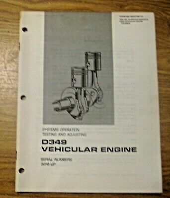 Vintage 1975 Caterpillar Vehicular Engine System Operation Testing Adjust Manual