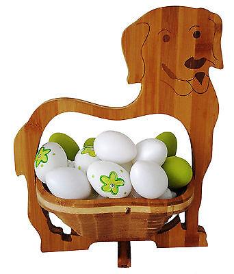CANE DOG CIOTOLA CESTINO PIEGHEVOLE CESTO 30x30cm di frutta legno sottobicchieri